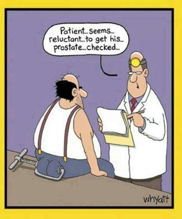 reluctant prostate exam meme