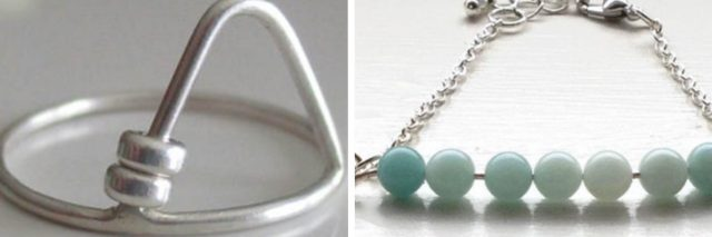 A fidget ring and bracelet