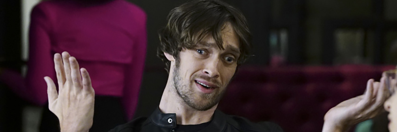 "Zach Anner in a guest starring role on ""Speechless."""