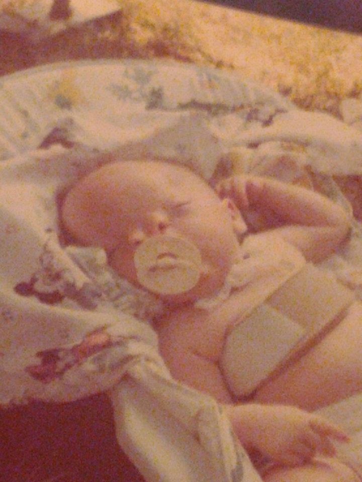 Corey as a newborn.