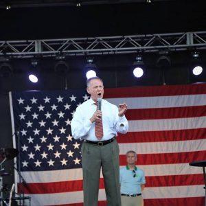 Roy Moore speaking on stage