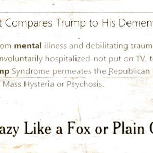 headlines about donald trump mental health