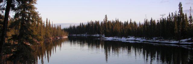 A photo of a lake