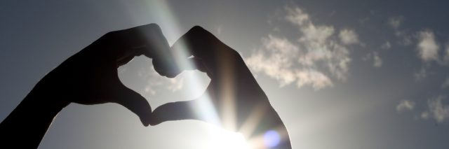 Heart Shaped Hands in the sky.