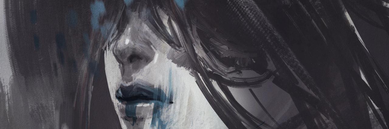 abstract art of unusual portrait ,illustration digital painting