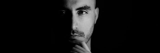 Male portrait in studio