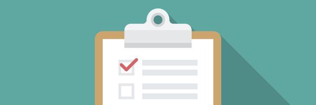 graphic illustration of a checklist