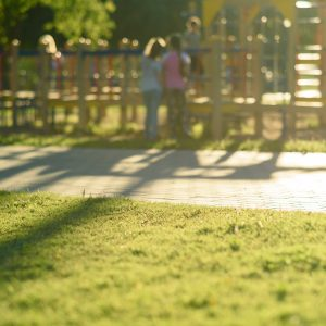 Defocused and blurred image for background children's playground public park