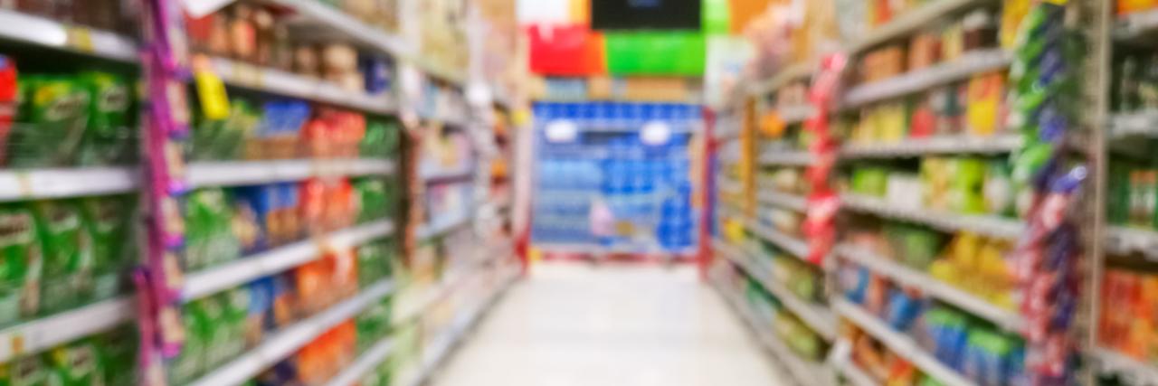 Abstract blur supermarket.
