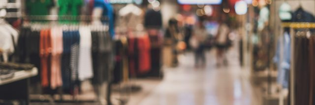 Abstract blurred background of department store.