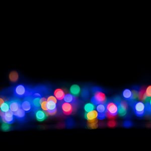 Blurred and defocused christmas colorful lights abstract background