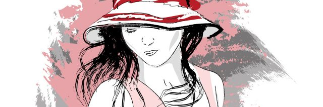 illustration of a woman in a hat