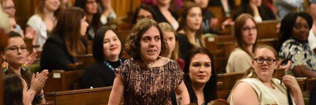 Mariah at Canadian Parliament.