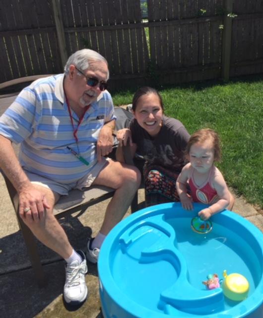 Dad Trish B and Harper
