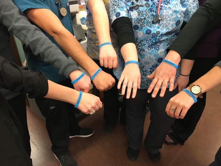 Justin Birkbichler testicular cancer bracelets