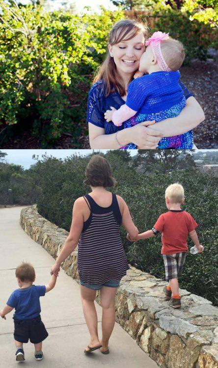 Katie Caldwell and children
