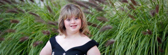 Teenage girl with Down syndrome