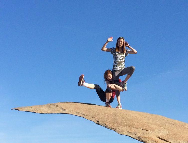 two girls on potato chip rock