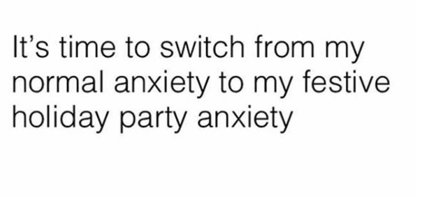 festive holiday party anxiety