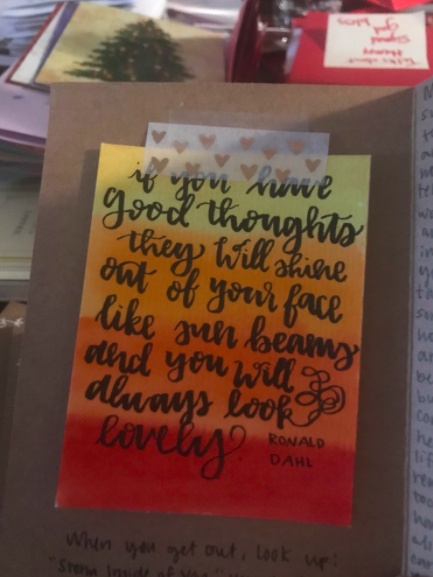 card with roald dahl quote