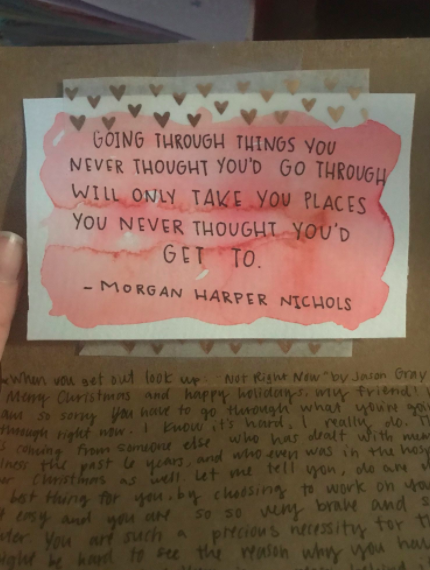 car with quote from morgon harper nichols