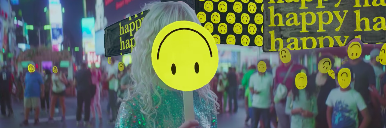 clip of paramore music video called fake happy
