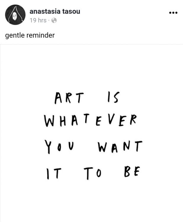 art is whatever you want it to be