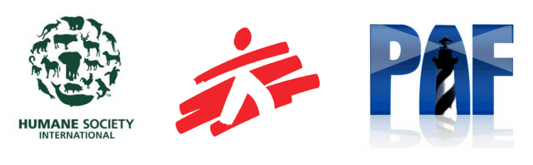 logos of the humane society international, doctors without borders and patient advocate foundation