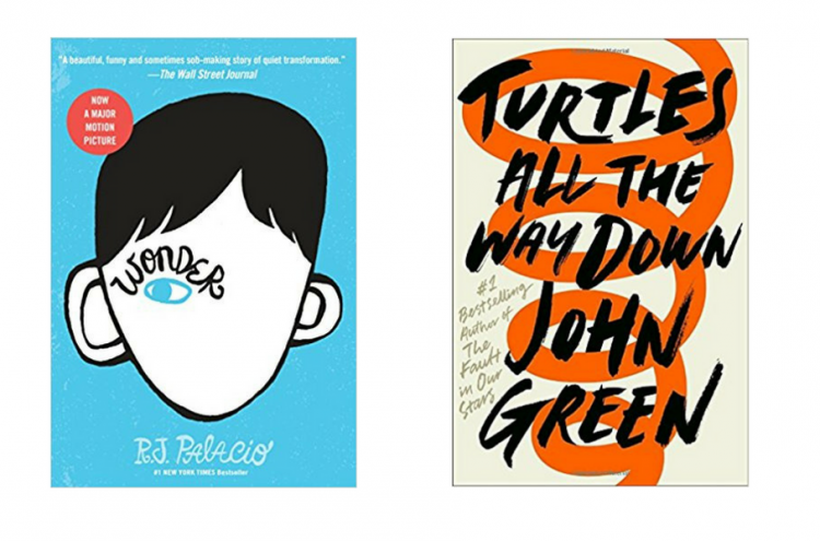 wonder by r.j. palacio and turtles all the way down by john green