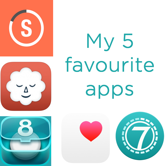 graphic that says my five favourite apps