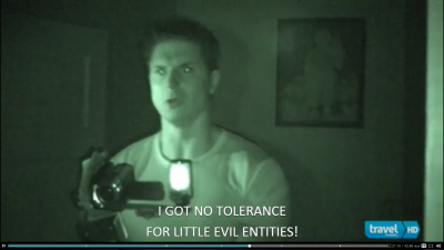 ghosthunter saying 'I got no tolerance for little evil entities'