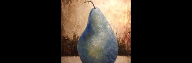 The Pear art by Leigh Blackistone.