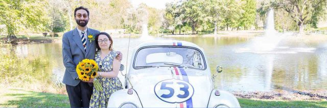 The author with his wife and Herbie the love bug