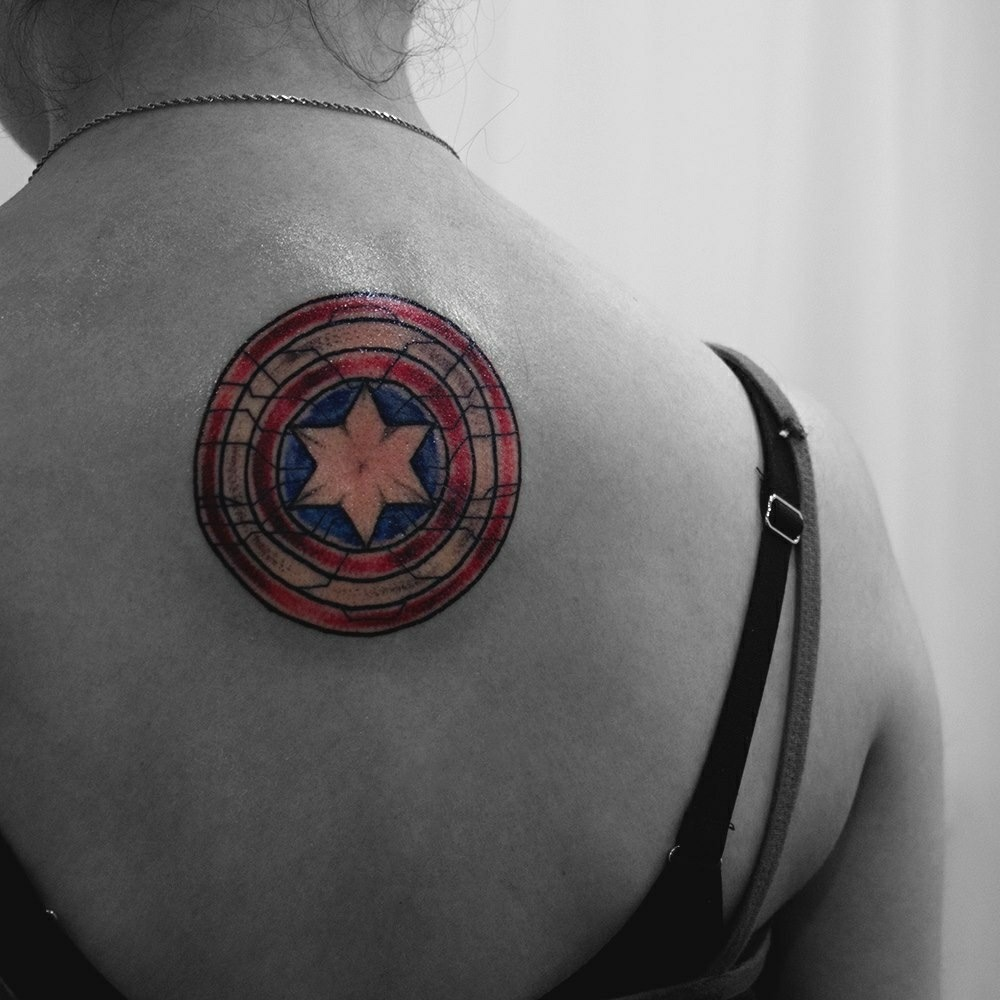 A photo of the writer's tattoo on her back.