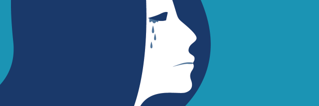 illustration of a woman crying