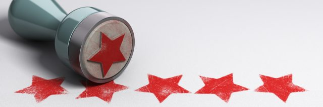 a star stamp with five stars