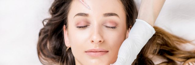 woman receiving botox treatment for migraine