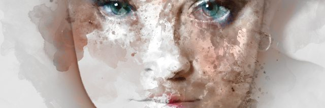 Portrait of a young beautiful woman. Image combined with an digital effects. Digital art