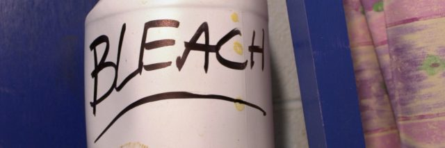 Bottle of bleach.