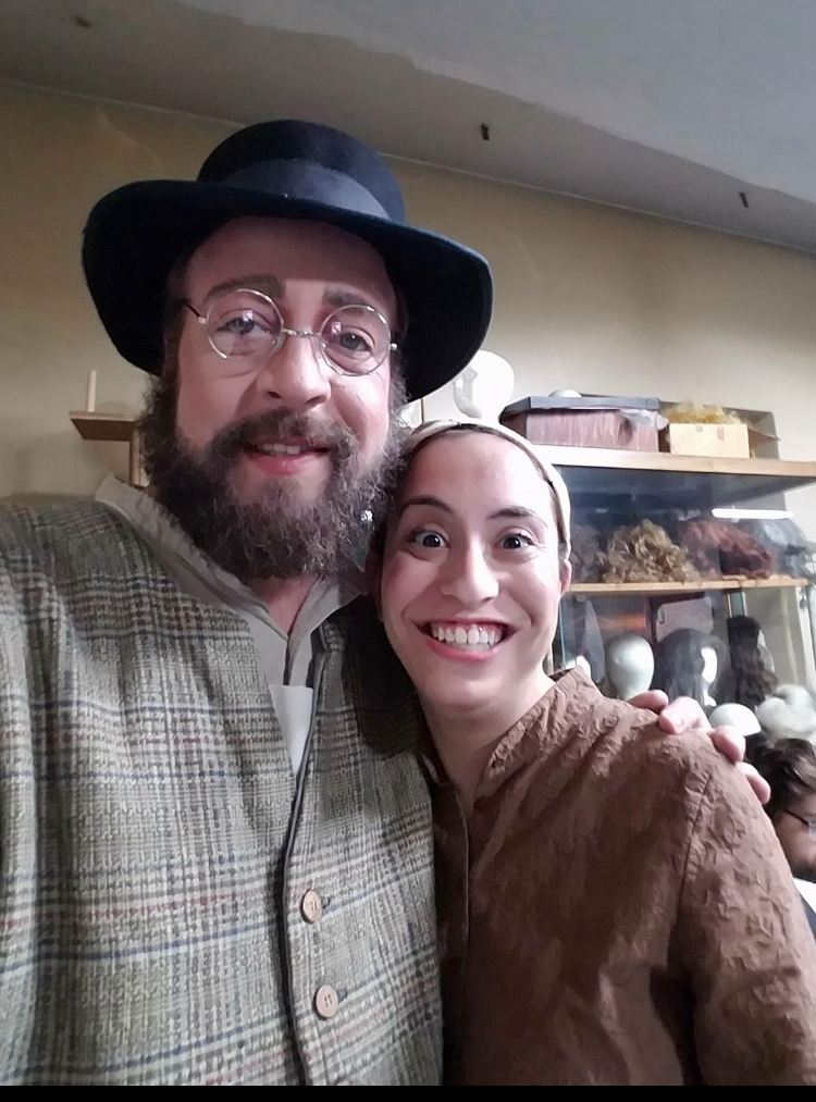 "Richard and Jamie in ""Fiddler on the Roof."""