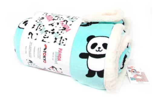 soft blanket with panda print