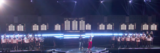 logic singing at the grammys with suicide attempt survivors