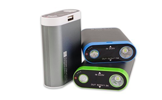 three rechargeable hand warmers