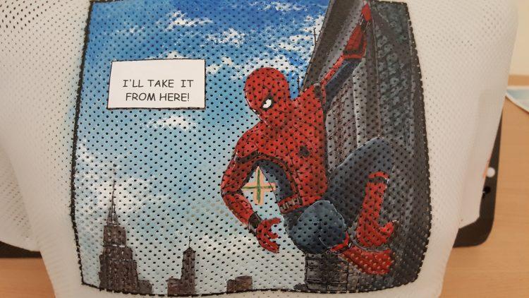 Spiderman radiotherapy mask