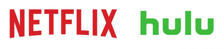 netflix and hulu logos