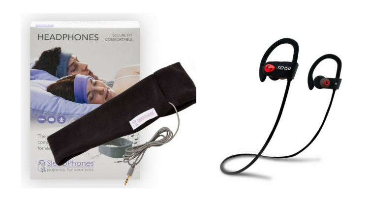 sleepphones padded headphones and wireless bluetooth headphones