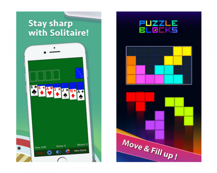 solitaire app and puzzle blocks app