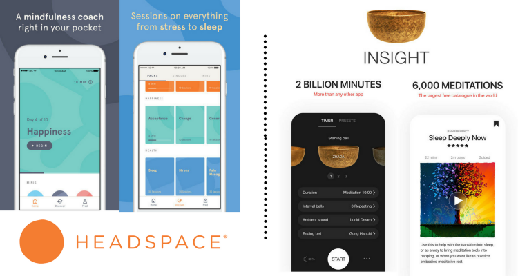 headspace app and insight timer app