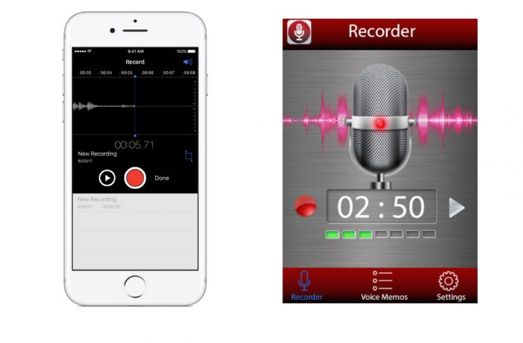 iphone and android voice recorder apps