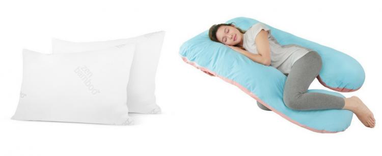 bamboo plush gel pillows and pregnancy pillow